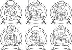 Soldaten des zweiten Weltkriegs lizenzfreie abbildung