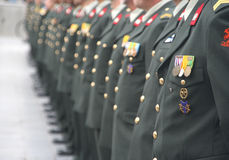 Soldaten an einer Zeremonie stockbilder