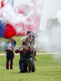 1700 Soldaten im Kampf Stockbild