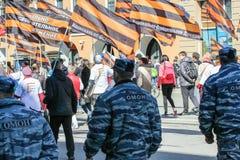 Soldaten von besonderen Kräften in der festlichen Demonstration Lizenzfreie Stockfotos