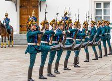 Soldater av den Kremlin regimenten Arkivbilder