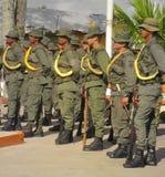 Soldater av den venezuelanska nationella vakten arkivbilder