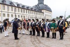 Soldater av Frederick II det stort royaltyfri foto