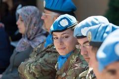 Soldater av italienareUNIFIL-kontingenten fotografering för bildbyråer