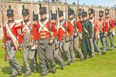 soldater för fortgeorge marsch Arkivbild