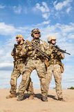 Soldater för grupp för specialförband för USA-armé arkivbilder