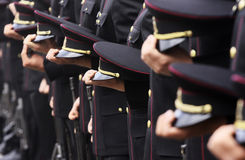 Soldater i rad Royaltyfri Bild