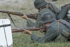 Soldater och utrustning Arkivfoton