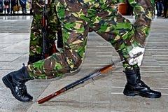 Soldater och vapen 3 arkivbild
