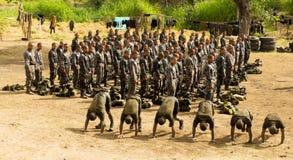 Soldater under utbildning Royaltyfria Bilder