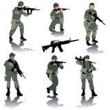 soldati illustrazione vettoriale