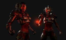 Soldati avanzati del cyborg Fotografia Stock