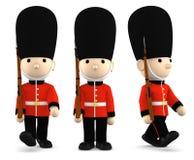 Soldati britannici su bianco, illustrazione 3D Immagini Stock