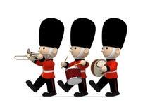Soldati britannici su bianco, illustrazione 3D Fotografia Stock