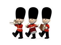 Soldati britannici su bianco, illustrazione 3D Immagine Stock Libera da Diritti