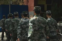 Soldati cinesi - Pechino, Cina fotografie stock libere da diritti
