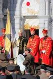 Soldati croati al pellegrinaggio militare a Lourdes, Francia fotografia stock