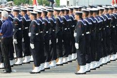 Soldati del blu marino Fotografie Stock Libere da Diritti