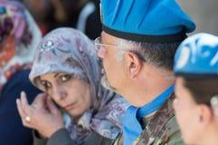Soldati del contingente italiano del UNIFIL Fotografia Stock Libera da Diritti