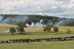 Soldati del sindacato a Gettysburg fotografie stock libere da diritti