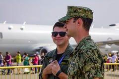 Soldati del U.S.A.F. dell'aeronautica di Stati Uniti immagine stock libera da diritti