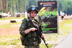 Soldati dell'esercito russo immagini stock libere da diritti