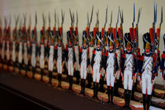 Soldati di carta Fotografia Stock