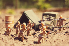 Soldati di giocattolo Immagini Stock Libere da Diritti