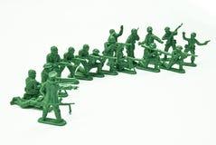 Soldati di giocattolo del plotone fotografia stock libera da diritti
