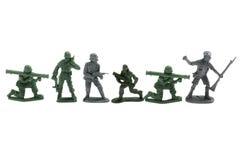 Soldati di giocattolo di plastica Fotografie Stock