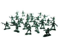 Soldati di giocattolo su bianco Immagine Stock