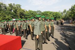Soldati femminili Fotografia Stock