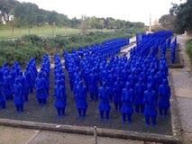 Soldati giapponesi blu Fotografia Stock Libera da Diritti
