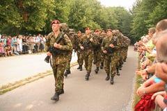 Soldati il giorno di veterani in Olanda Immagini Stock Libere da Diritti