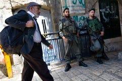 Soldati israeliani a Gerusalemme Fotografia Stock Libera da Diritti