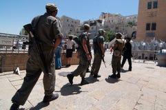 Soldati israeliani a Gerusalemme Fotografie Stock