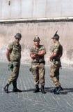 Soldati italiani Fotografie Stock Libere da Diritti