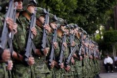 Soldati messicani dell'esercito Immagine Stock