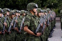 Soldati messicani dell'esercito Fotografie Stock