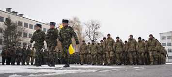 Soldati restituiti Fotografia Stock