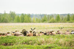 Soldati sovietici in fossa Fotografia Stock Libera da Diritti