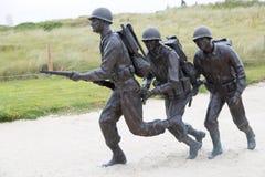Soldati in spiaggia dell'Utah fotografia stock