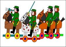 Soldati su a cavallo Immagini Stock