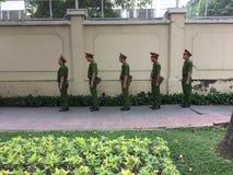 Soldati vietnamiti nella città di Ho Chi MInh Fotografia Stock