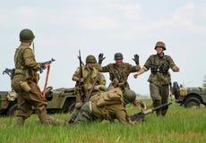 Soldatkapitulation arkivbild