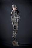 soldatkvinna Arkivfoto