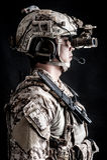 Soldatmann Militärhutmode Stockbilder
