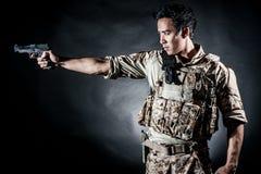 Soldatmanngriff-Gewehrmode Lizenzfreies Stockbild