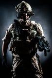 Soldatmanngriff Maschinengewehr-Artmode Lizenzfreie Stockbilder
