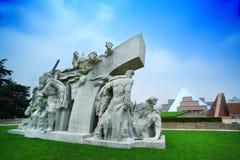 Soldatmonument i Kina Arkivbild